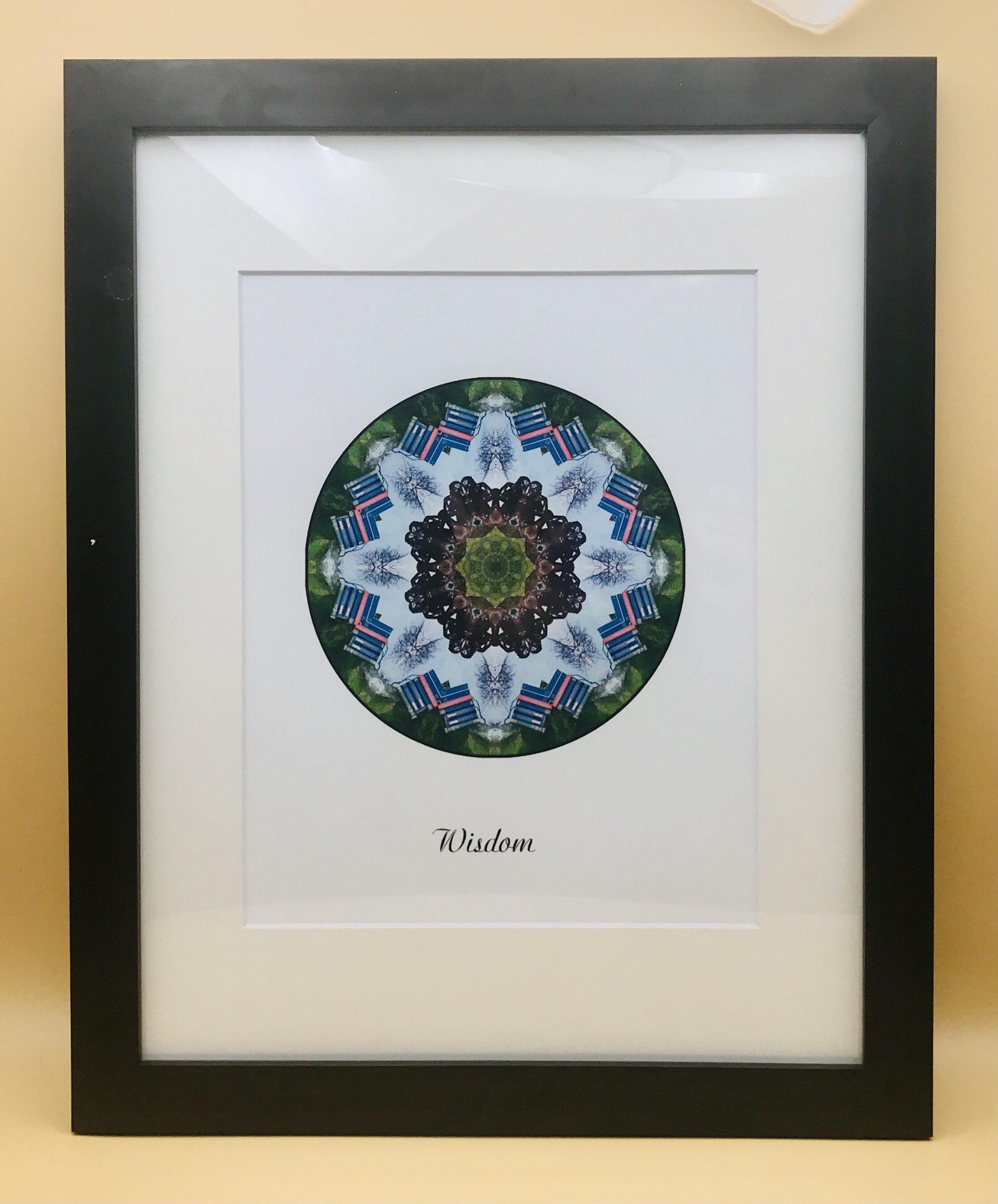 Wisdom Mandala Framed Print