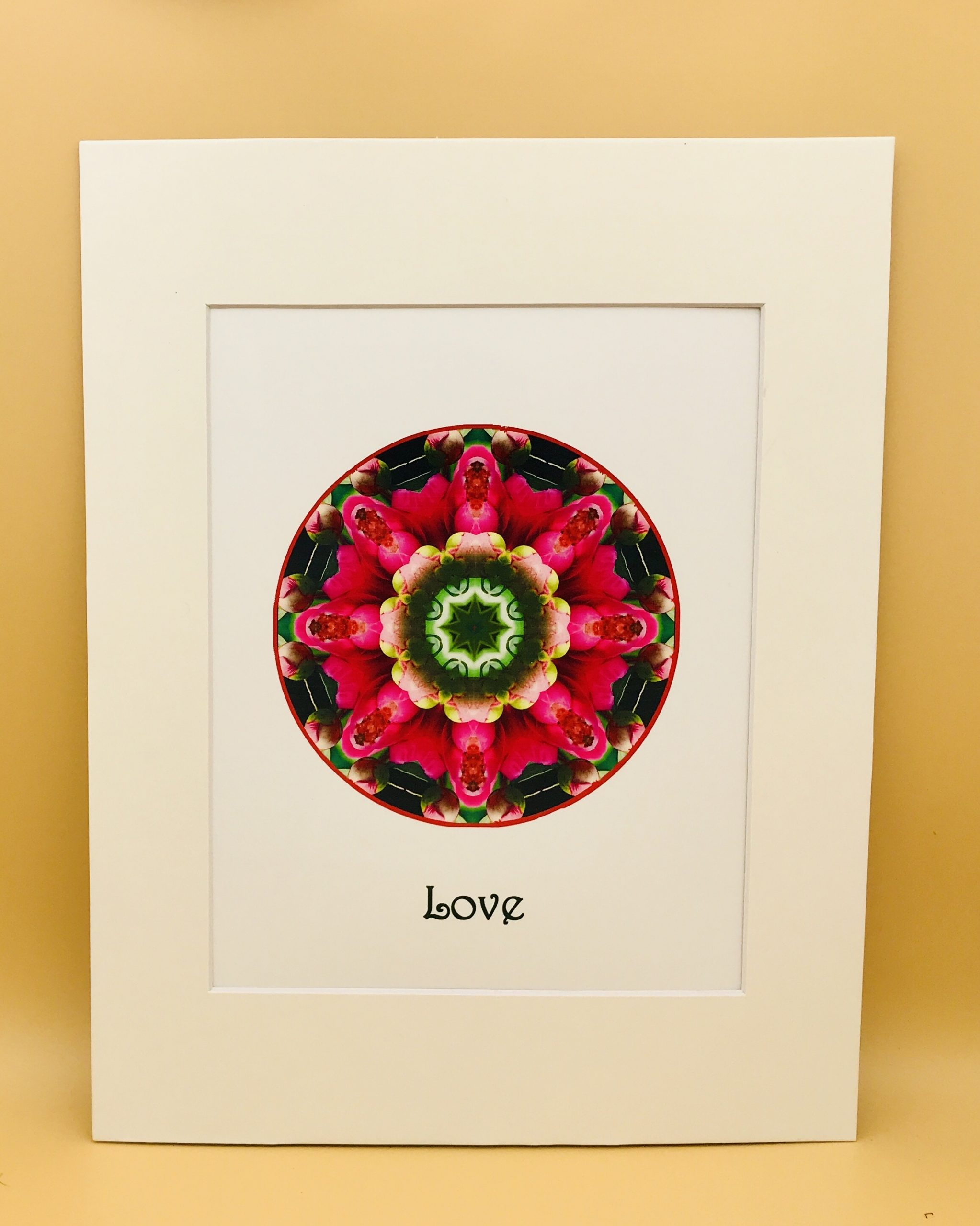 Love Mandala Matted Print