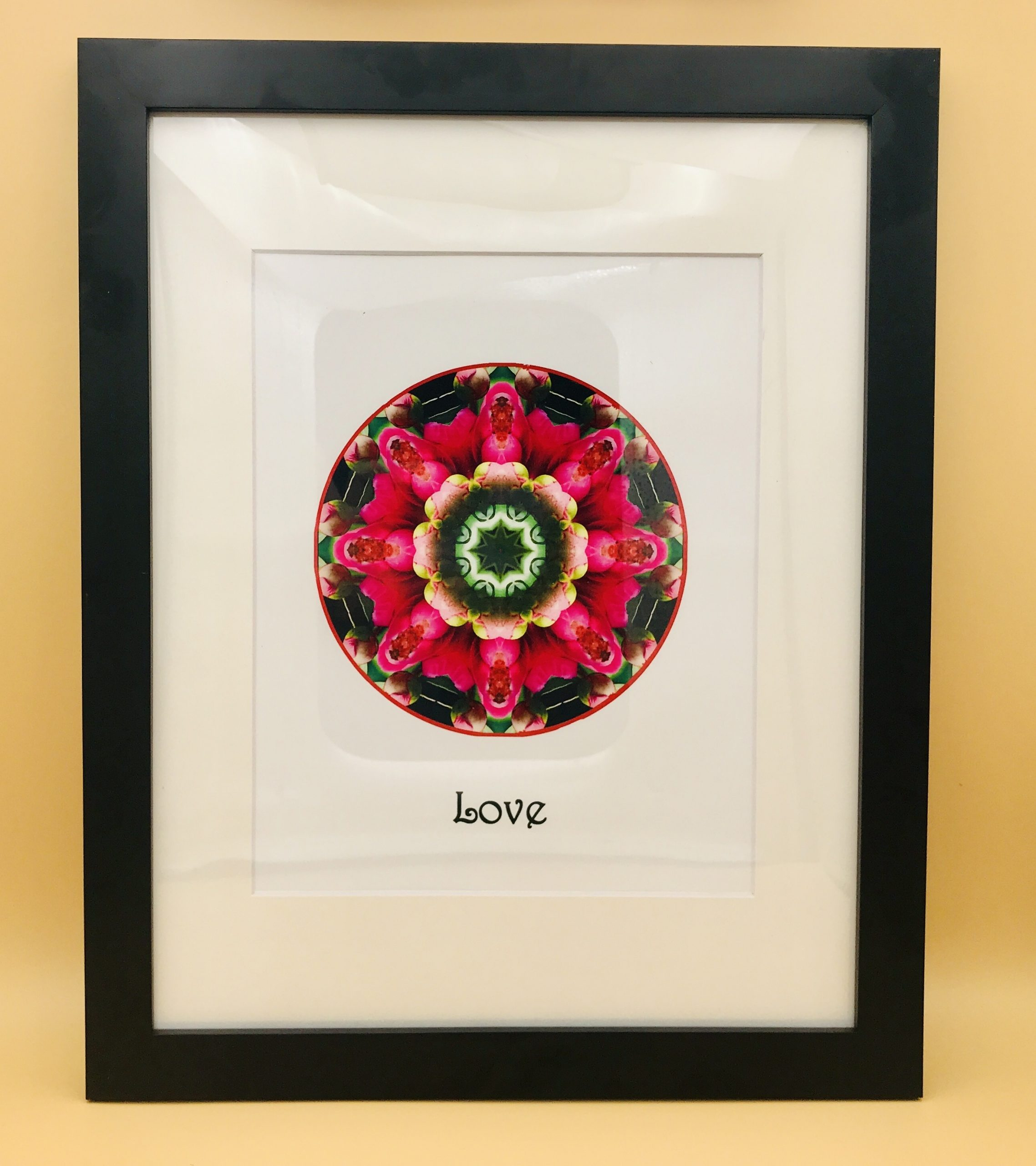 Love Mandala Framed Print