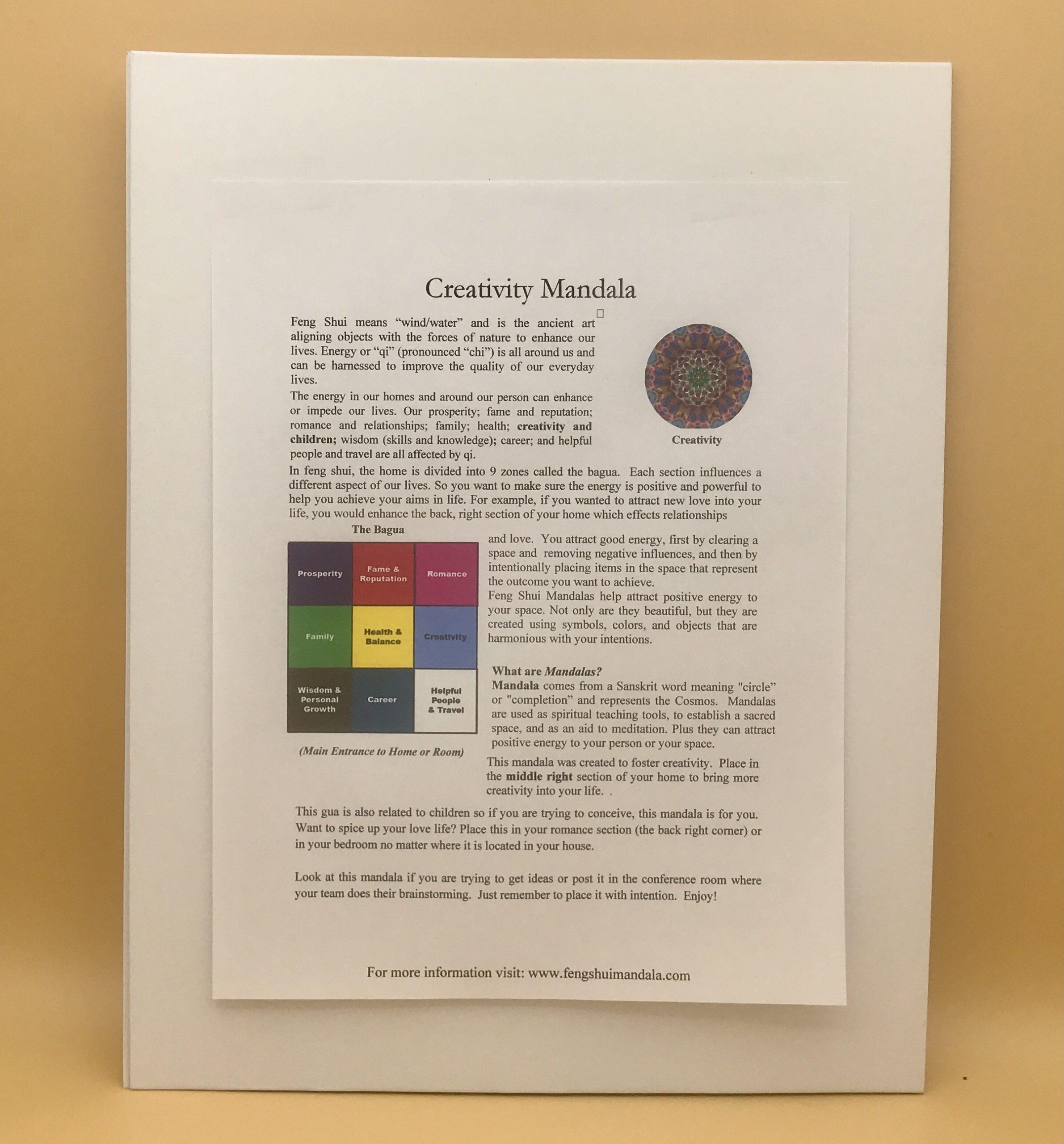 Creativity and Children Mandala Framed Print