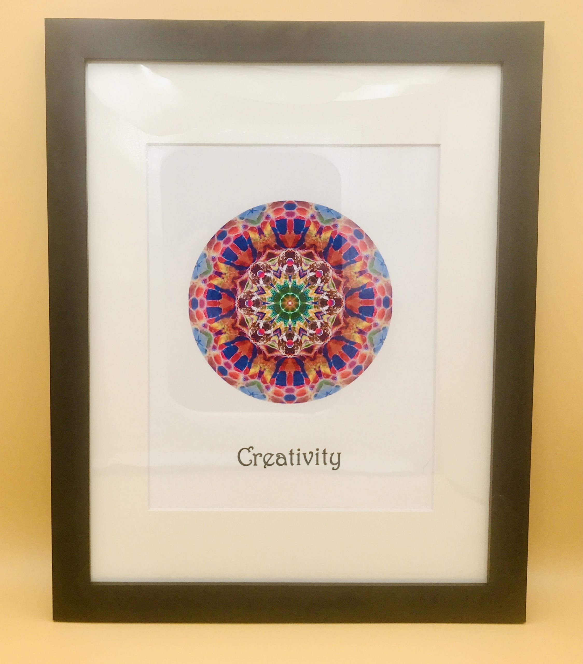 Creativity and Children Mandala Framed Print