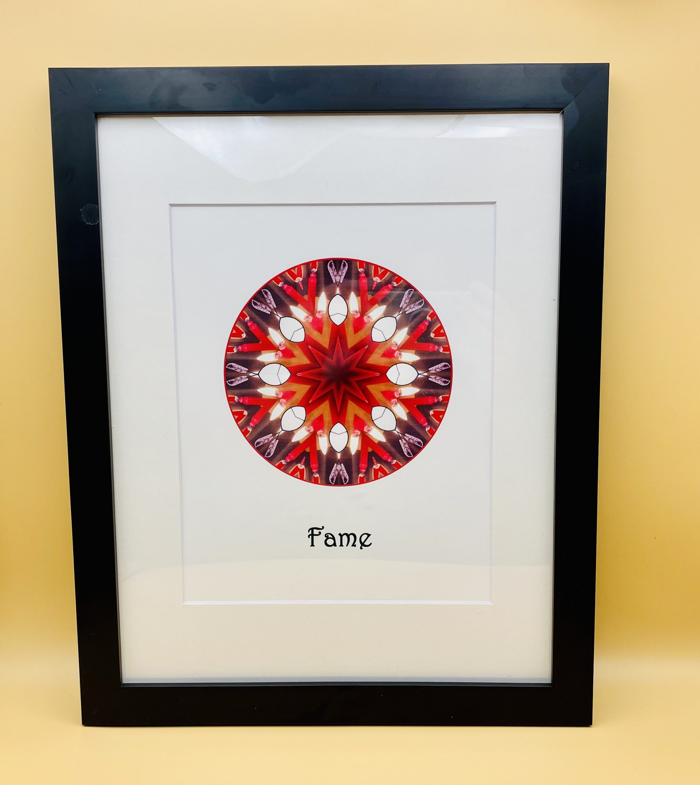 Fame and Reputation Mandala Framed Print