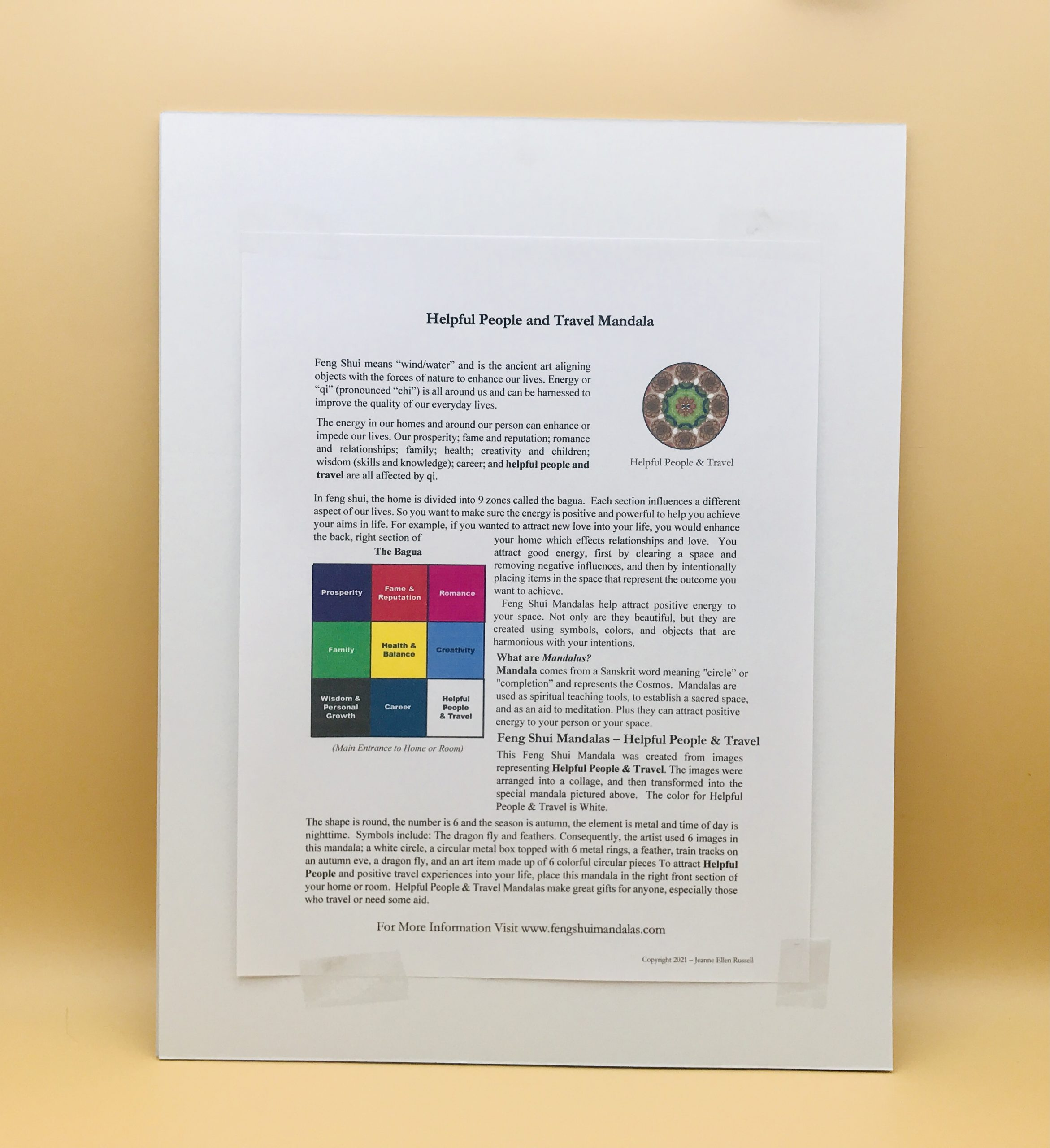 Helpful People and Travel Mandala Framed Print
