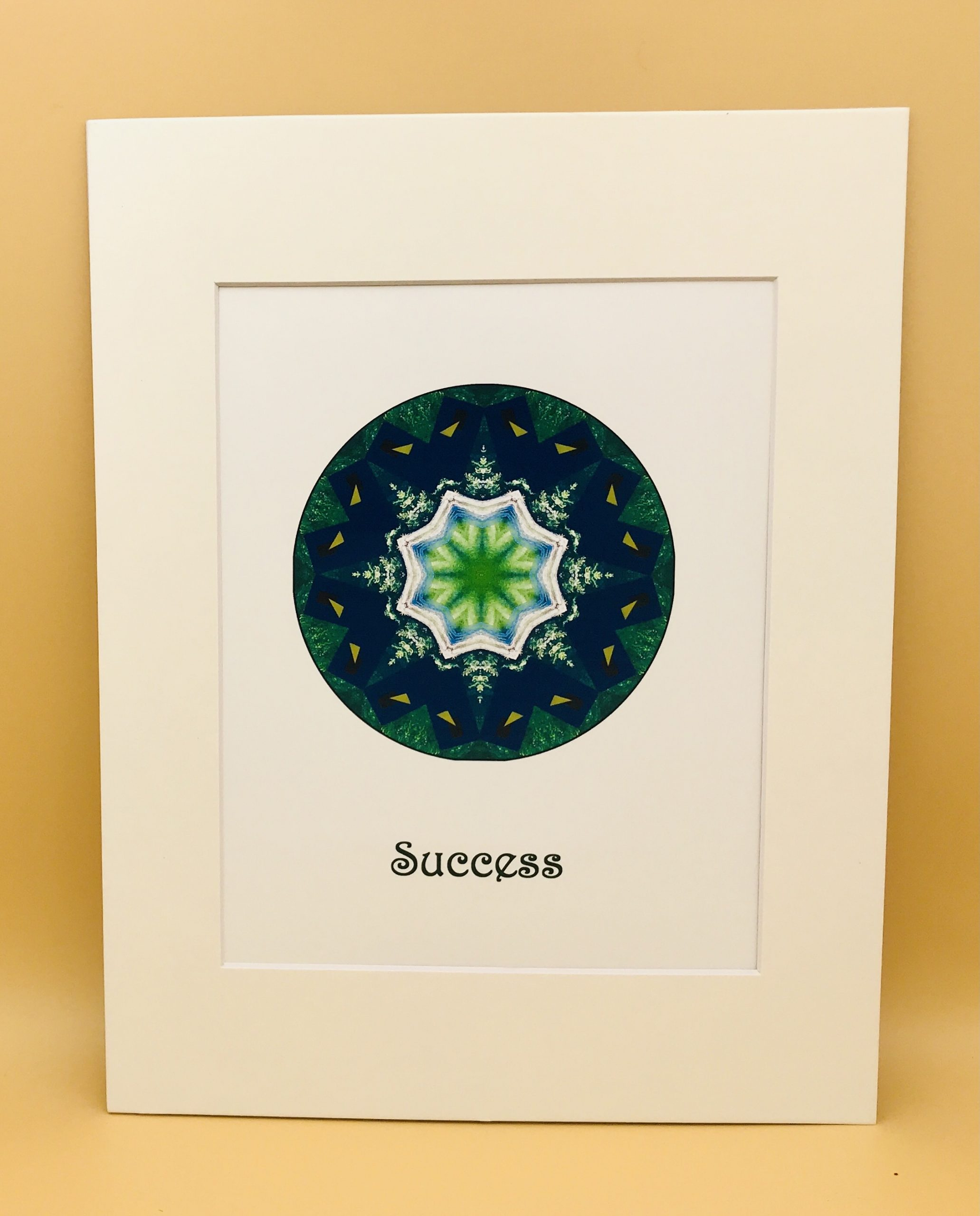 Success Mandala Matted Print