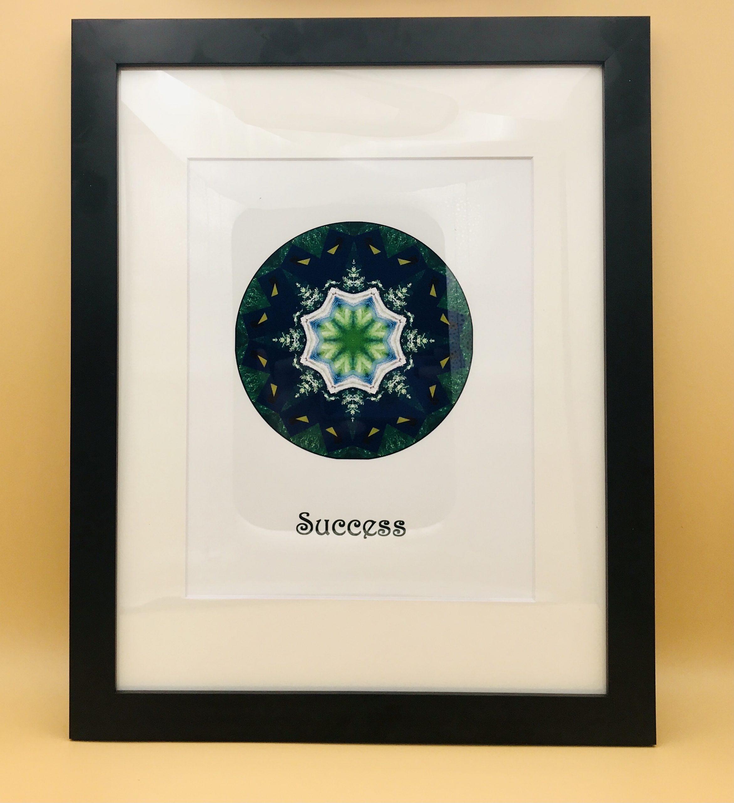 Success Mandala Framed Print