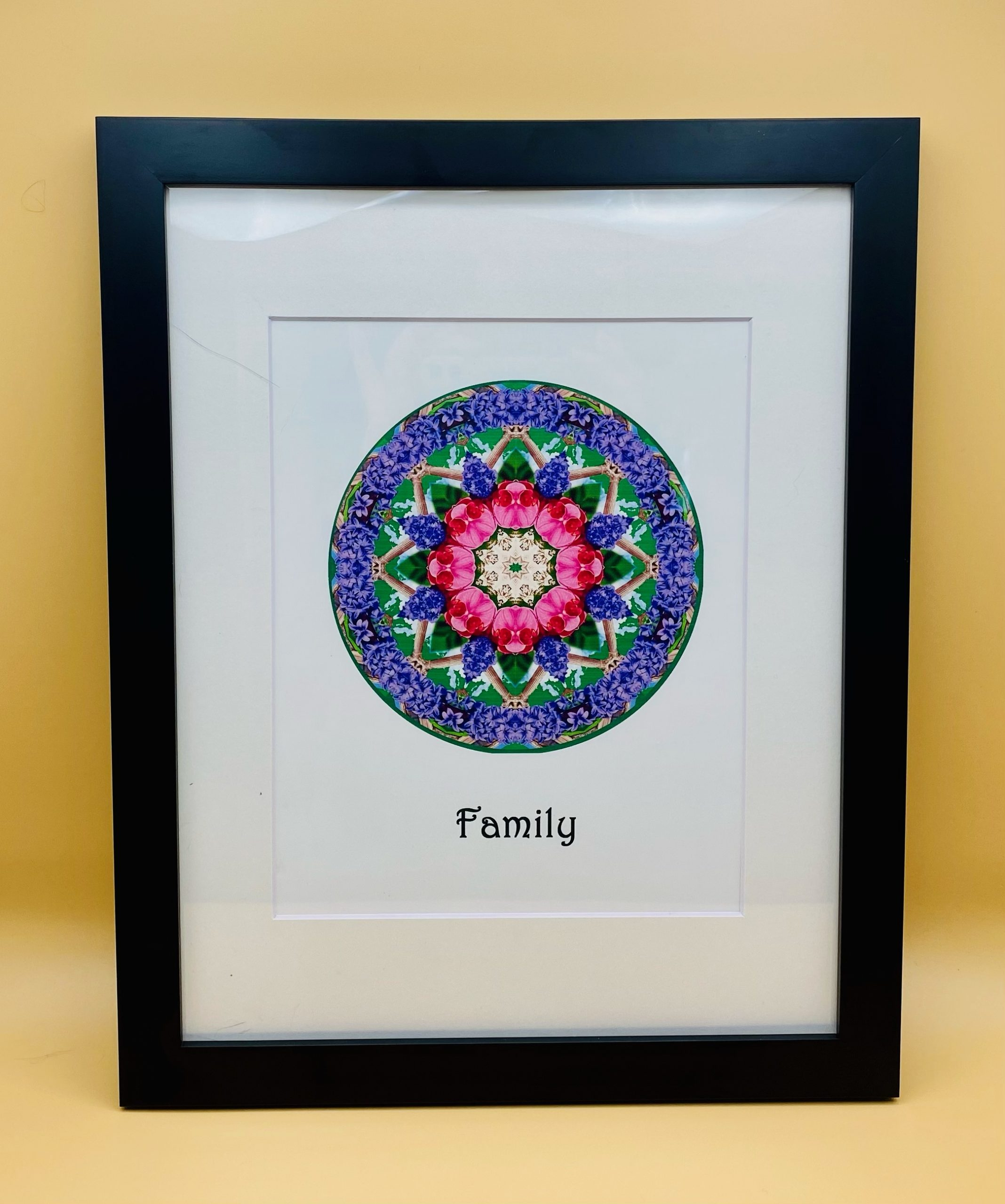 Family Mandala Framed Print