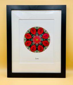 Framed mandala print for Love