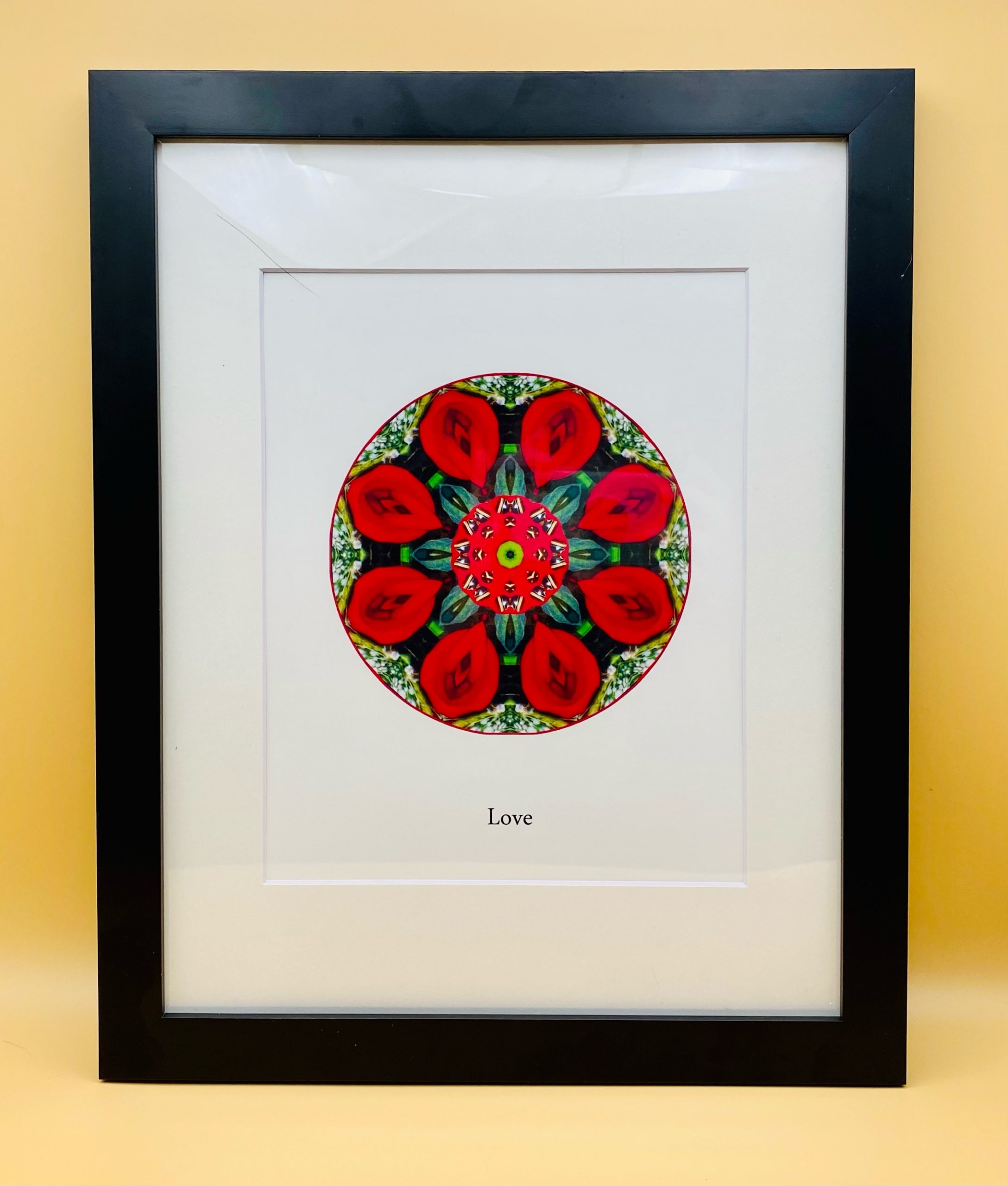 Love 2011 Mandala Framed Print