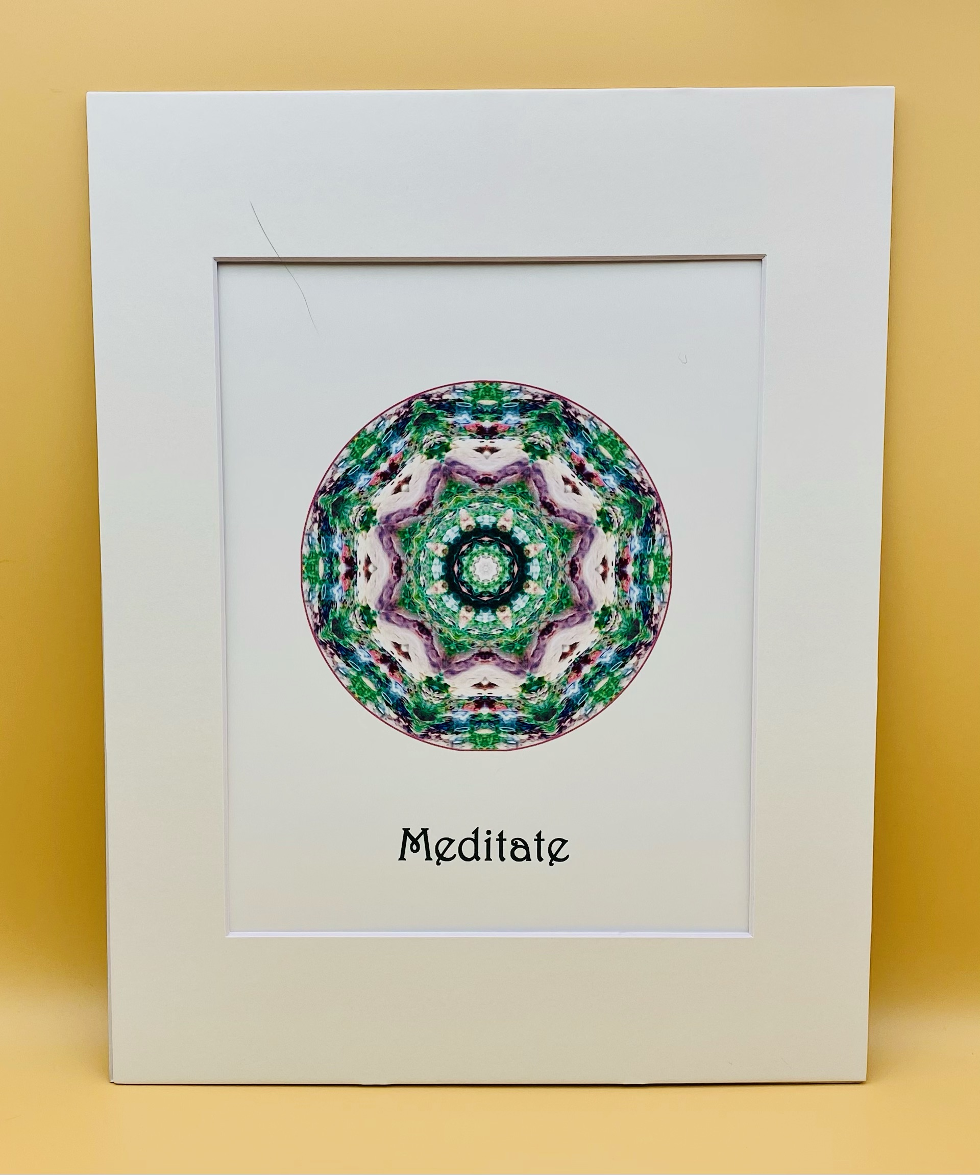 Meditate Mandala Print