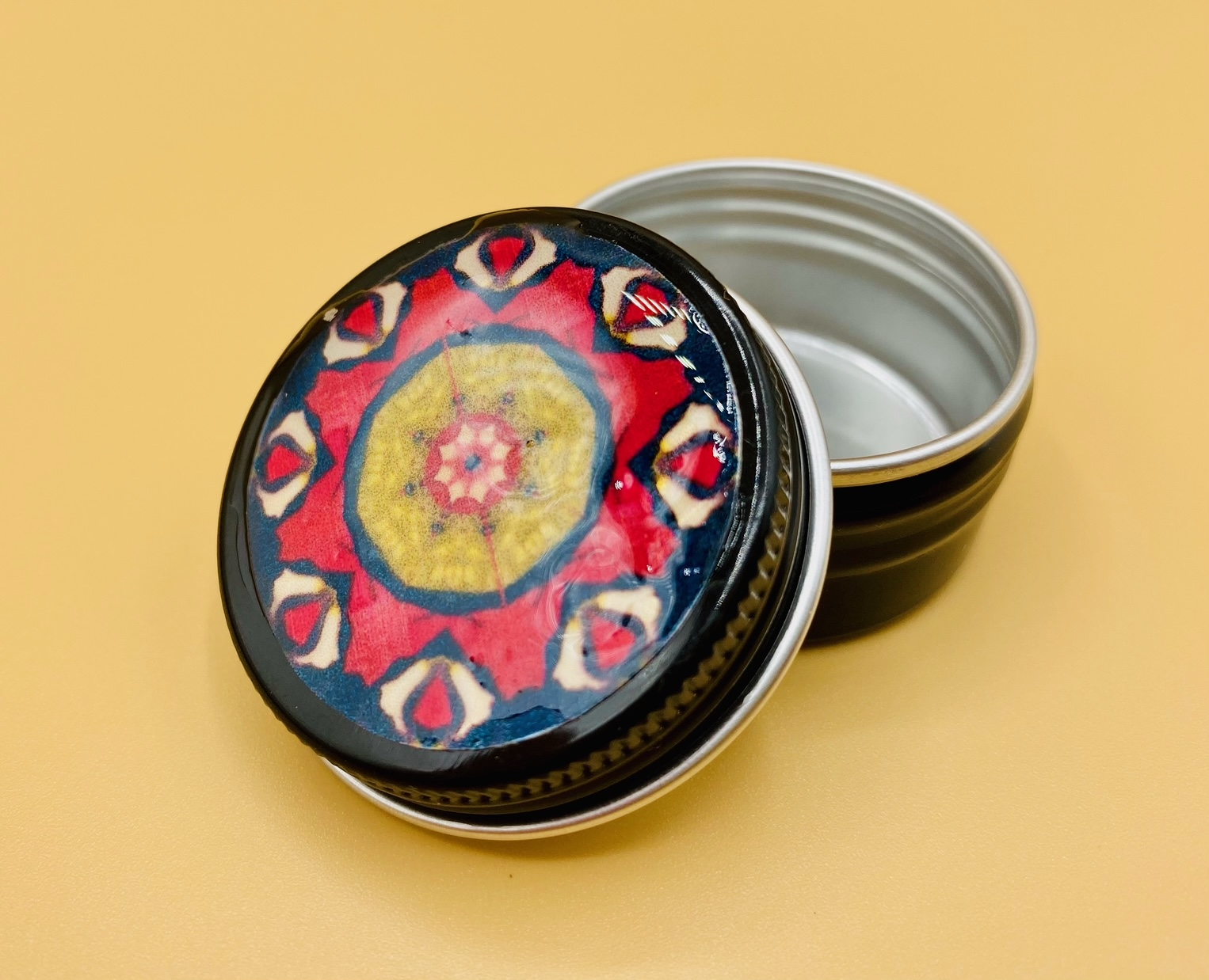 Peace Mandala Stash Box