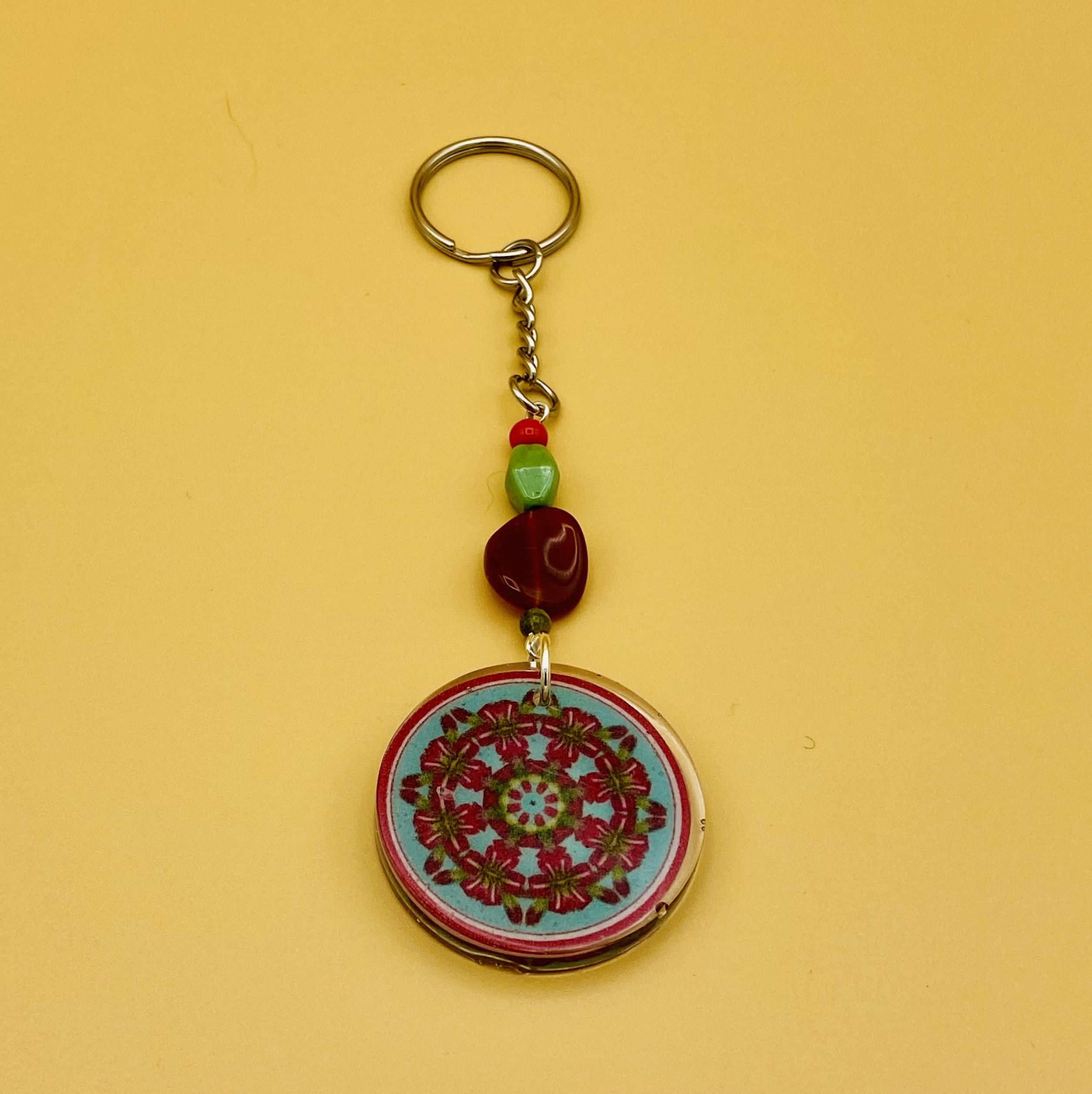 Gratitude Mandala Keychain