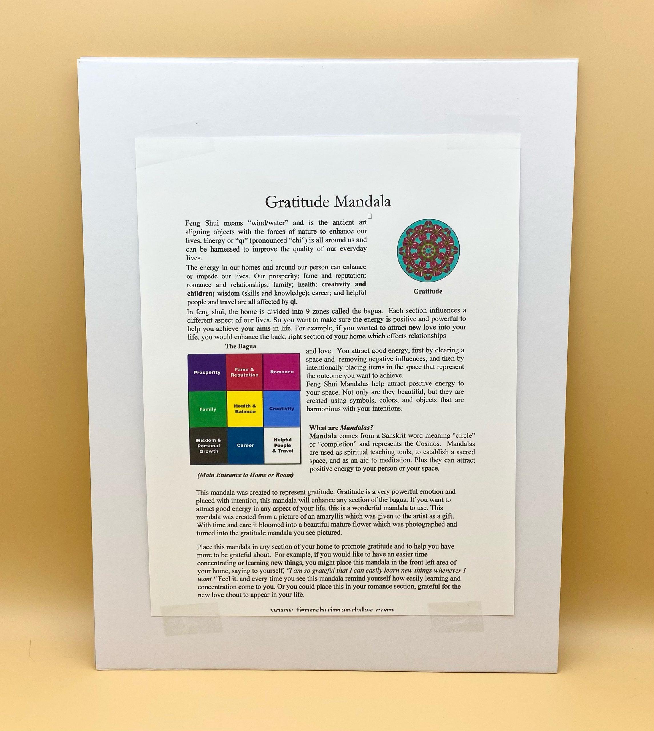 Gratitude Mandala Framed Print