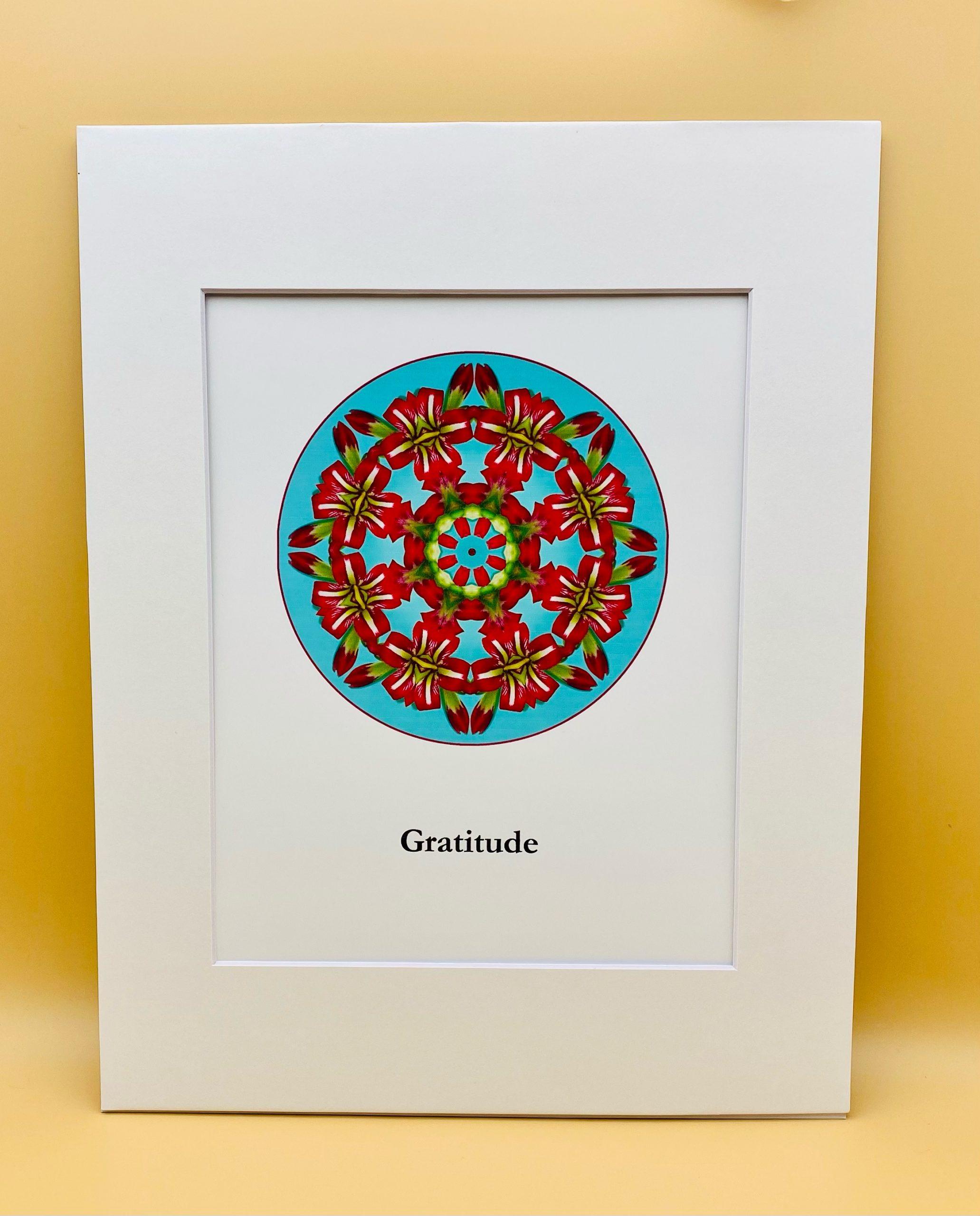 Gratitude Mandala Print
