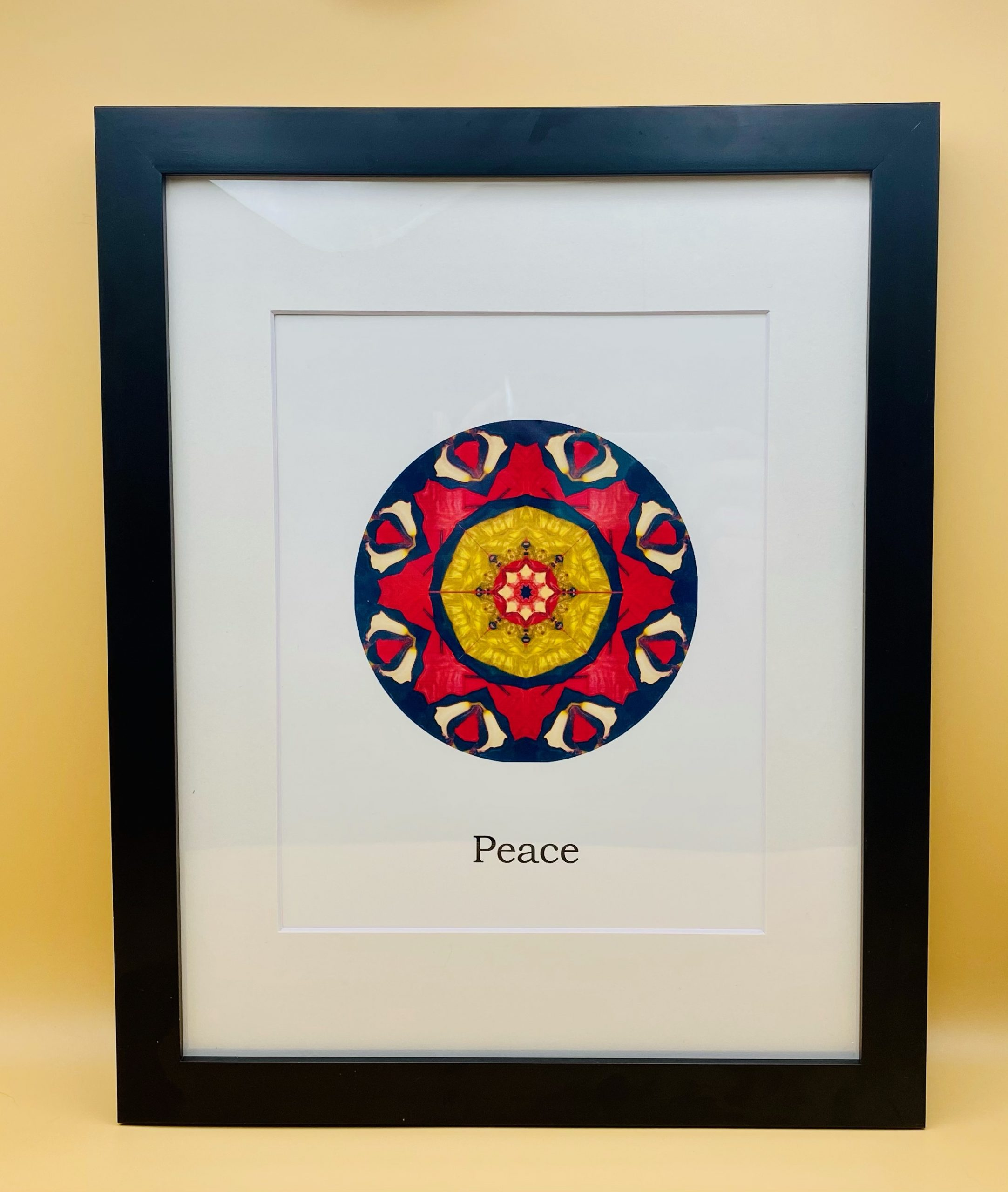 Peace Mandala Framed Print