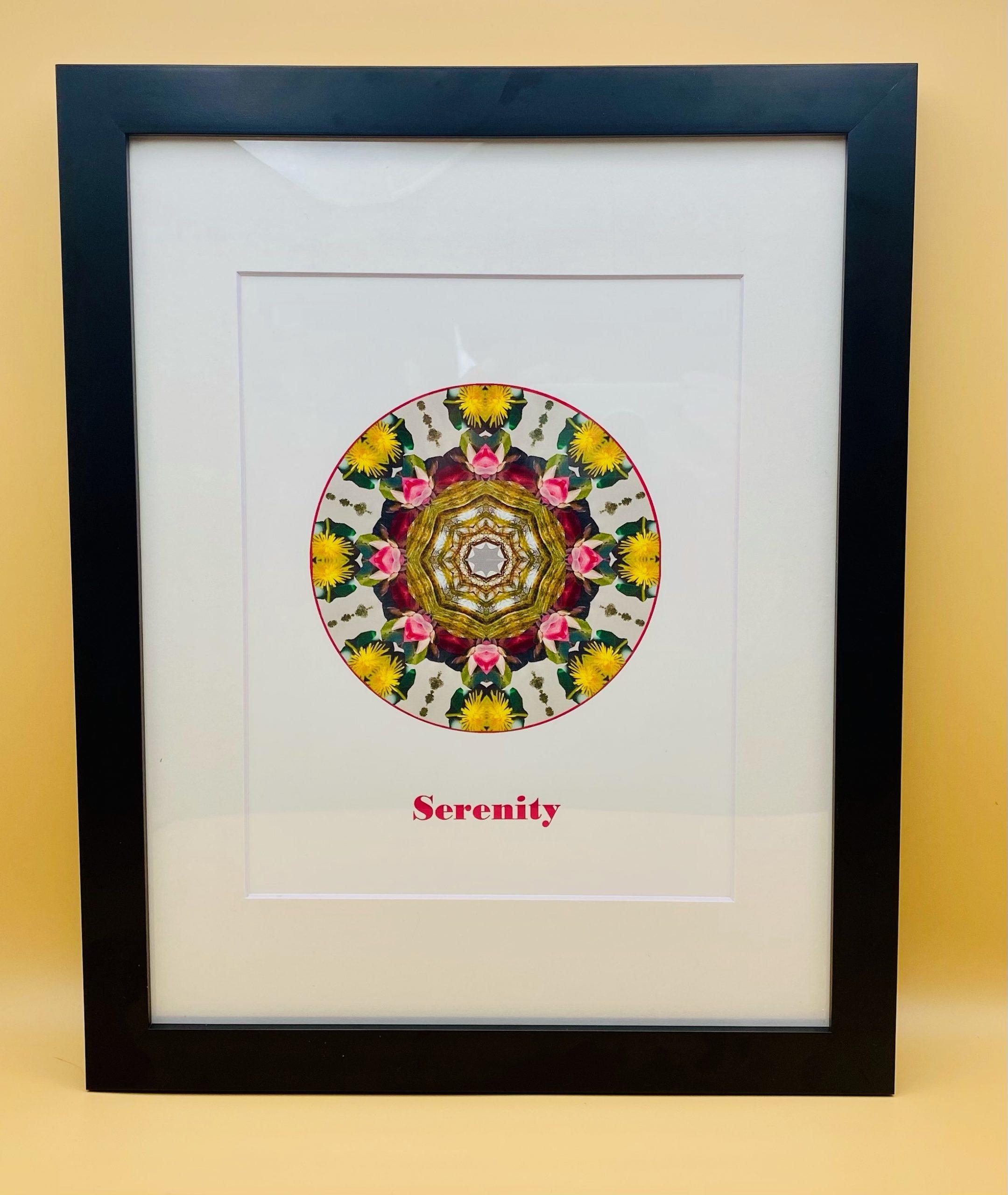 Serenity Mandala Framed Print