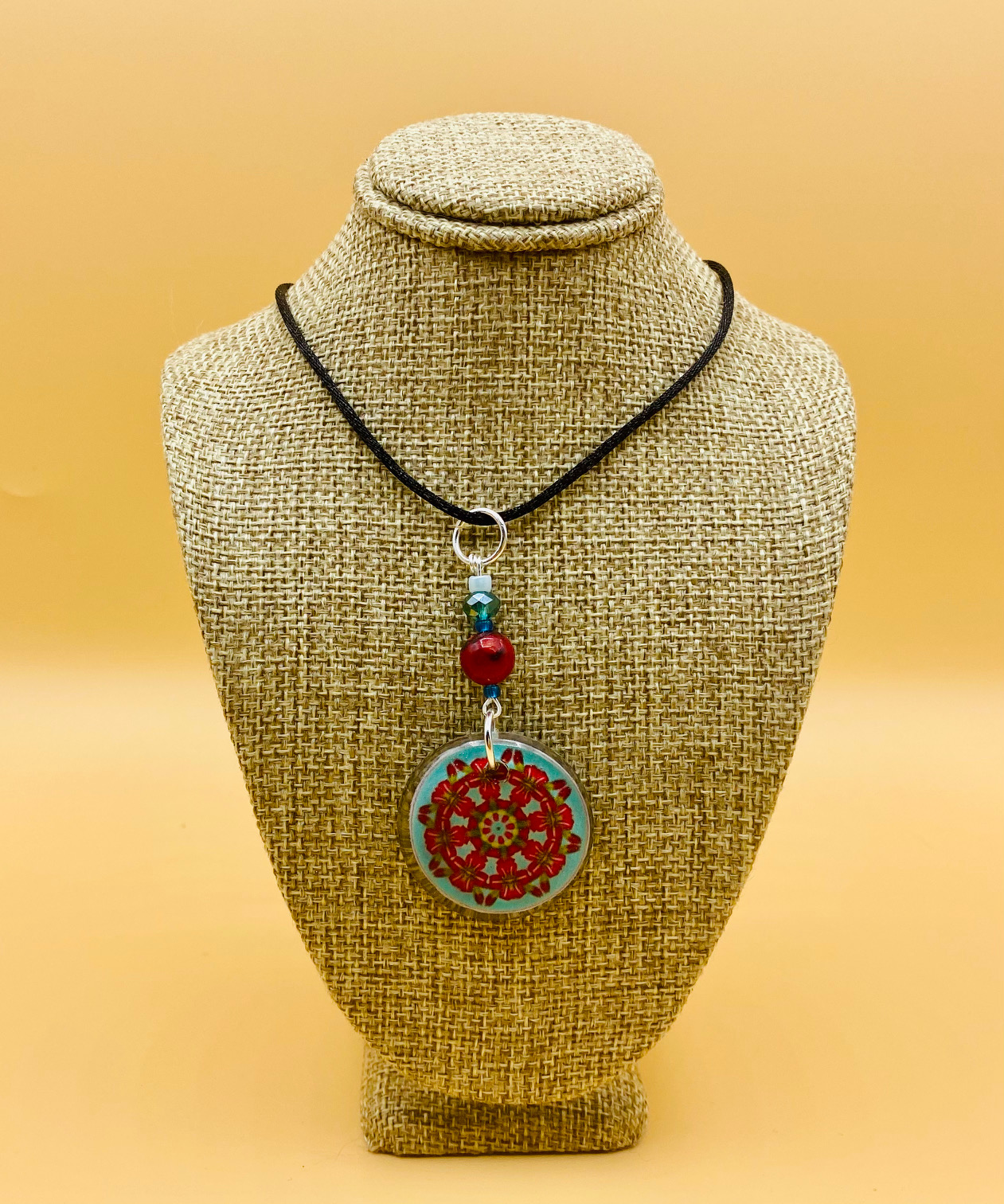 Gratitude Mandala Pendant Necklace