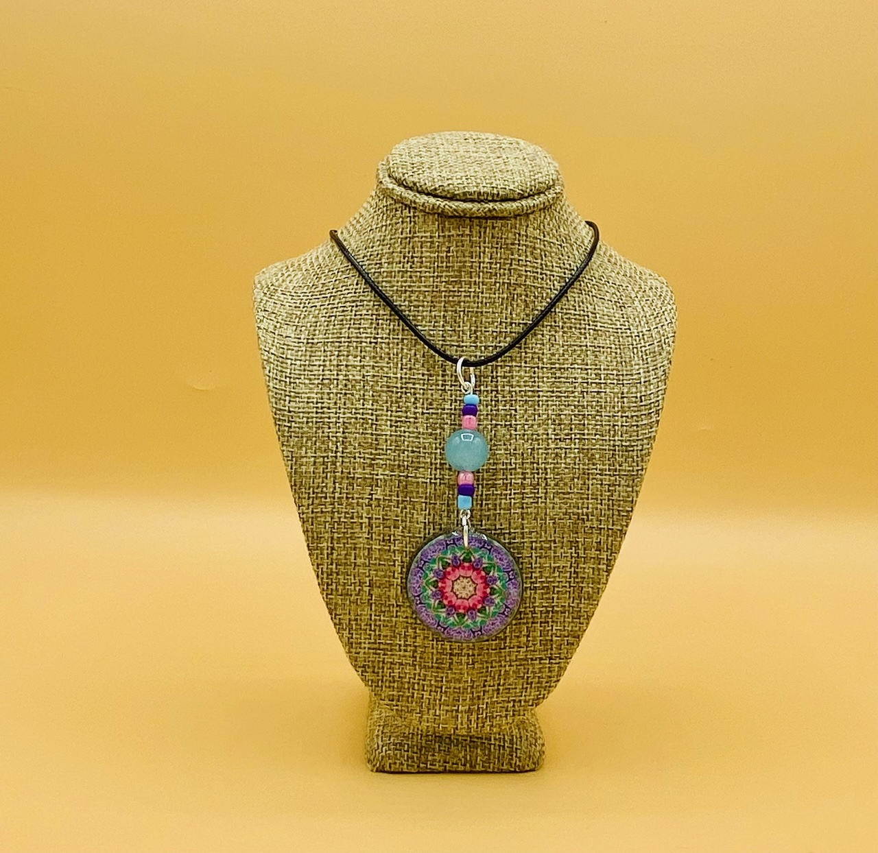 Family Mandala Pendant Necklace