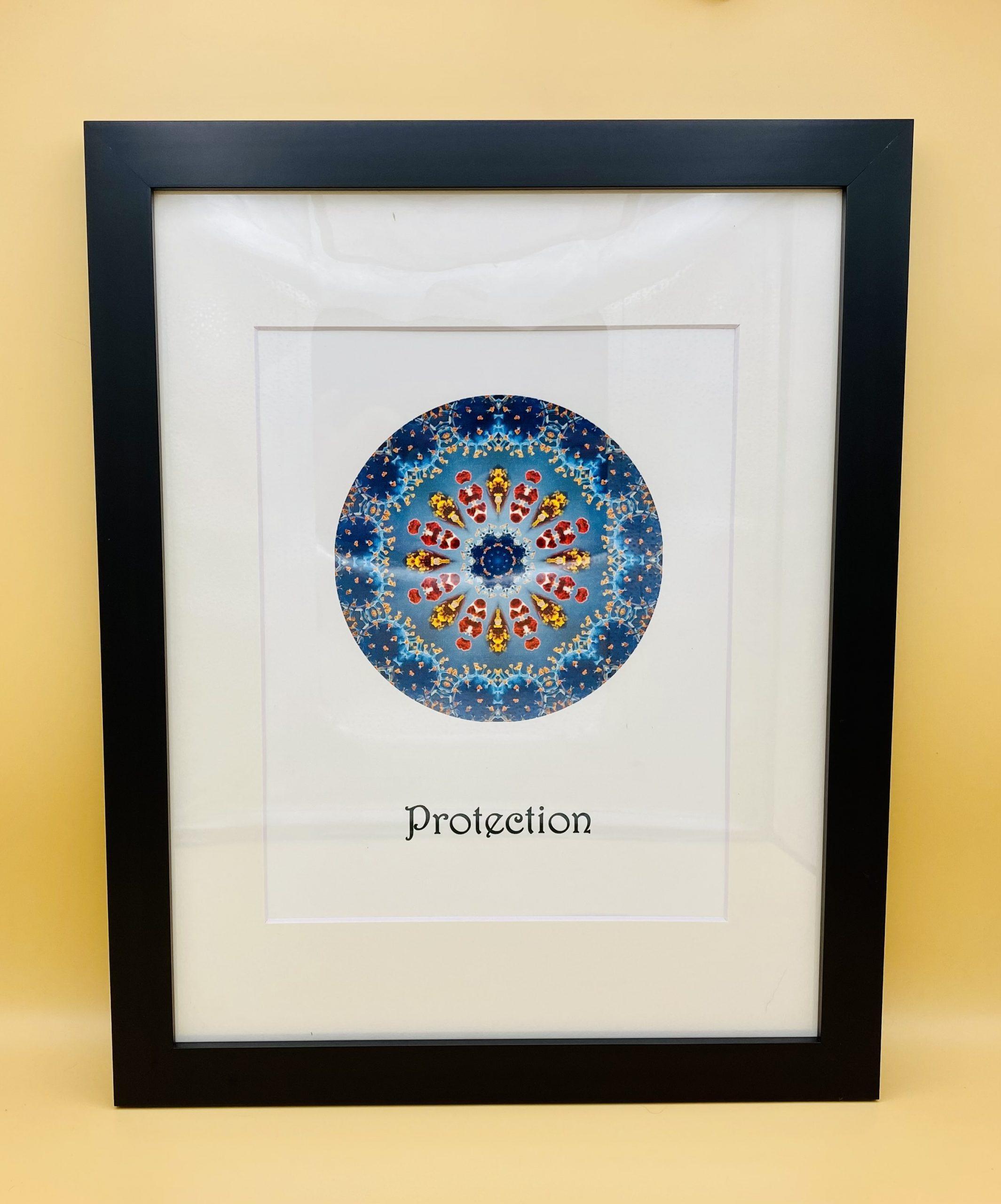 Protection Mandala Framed Print